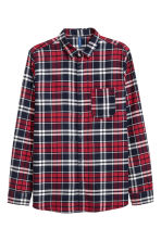 Flannel shirt - Red/White - Men | H&M CN 2
