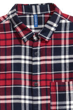 Flannel shirt - Red/White - Men | H&M CN 3