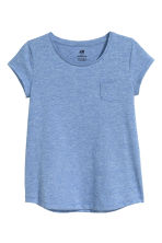 Cotton top - Blue marl - Kids | H&M CN 1