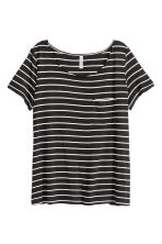 Jersey top - Black/Striped - Ladies | H&M CN 2