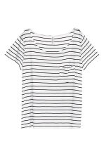 Jersey top - White/Striped - Ladies | H&M CN 2
