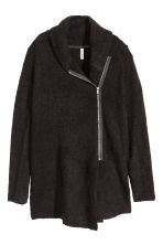 Bouclé cardigan - Black - Ladies | H&M CN 2