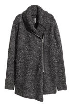 Bouclé cardigan - Dark grey - Ladies | H&M CN 2