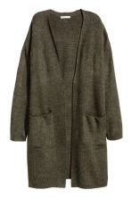 Long cardigan - Dark green marl -  | H&M CA 2