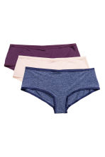 3-pack microfibre shorts - Dark blue - Ladies | H&M CN 2