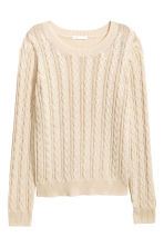 Cable-knit jumper - Natural white -  | H&M CN 2