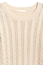 Cable-knit jumper - Natural white -  | H&M CN 3