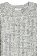 Cable-knit jumper - Grey marl -  | H&M CN 3