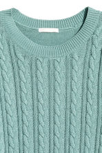 Cable-knit jumper - Turquoise -  | H&M CN 3