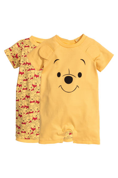 2 Pack All In One Pyjamas Yellow Winnie The Pooh H Amp M Gb