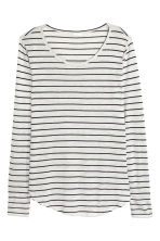 Jersey top - Light grey/Striped - Ladies | H&M CN 2
