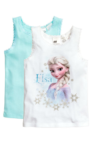 2-pack tops - White/Frozen - Kids | H&M 1