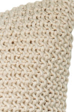 Moss-knit cushion cover - Light beige - Home All | H&M CN 4