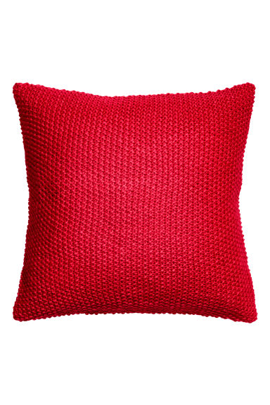 Moss-knit cushion cover - Red - Home All | H&M CN 1