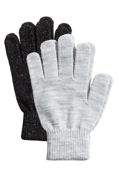 2-pack gloves - Grey marl/Black - Ladies | H&M 1