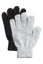 2-pack gloves - Grey marl/Black - Ladies | H&M IE 1
