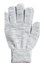 2-pack gloves - Grey marl/Black - Ladies | H&M 3