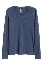 Long-sleeved T-shirt Slim fit - Blue marl - Men | H&M CN 2