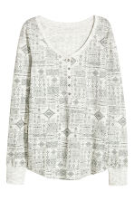 Jersey pyjamas - Light grey/Patterned -  | H&M CN 2