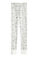 Jersey pyjamas - Light grey/Patterned -  | H&M CN 3