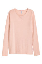 Long-sleeved jersey top - Powder pink - Ladies | H&M 2