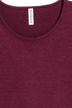 Long-sleeved jersey top - Burgundy marl - Ladies | H&M 2