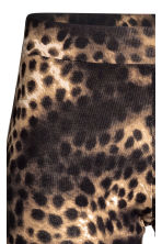 Patterned leggings - Black/Leopard print - Ladies | H&M CN 3