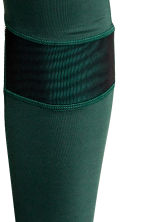 Running tights - Dark green -  | H&M CN 4
