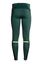 Running tights - Dark green -  | H&M CN 3