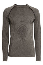 Seamless base layer top - Dark grey marl - Men | H&M CA 2