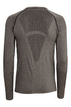 Seamless base layer top - Dark grey marl - Men | H&M CA 3