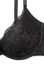 Reggiseno push-up in pizzo - Nero - DONNA | H&M IT 3