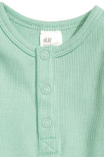 Long-sleeved bodysuit - Mint green - Kids | H&M CN 2