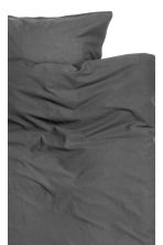 Washed cotton duvet cover set - Anthracite grey - Home All | H&M CN 3