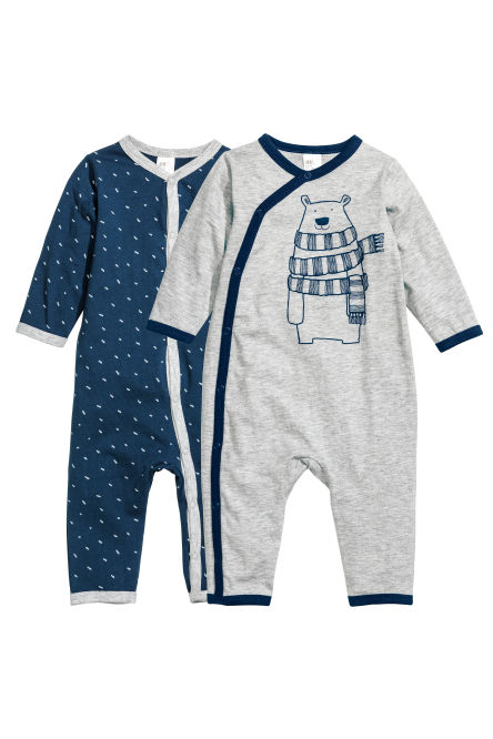2-pack all-in-one pyjamas