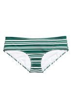 Slip bikini - Verde smeraldo/righe - DONNA | H&M IT 2