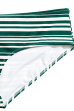 Bikini bottoms - Emerald green/Striped - Ladies | H&M CN 3