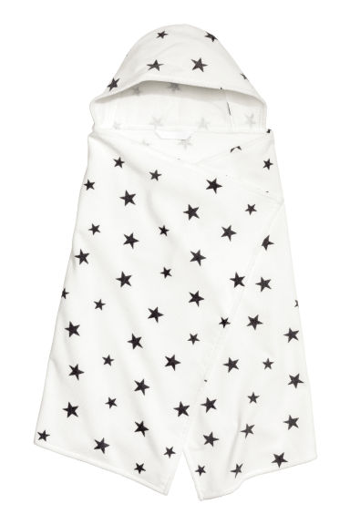 Hooded towel - White/Stars - Home All | H&M CN 1