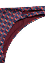 Bikini bottoms - Burgundy/Patterned - Ladies | H&M CN 3