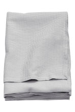 Waffled double bedspread - Light grey - Home All | H&M CN 2