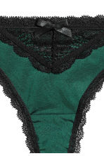 Microfibre string briefs - Emerald green - Ladies | H&M CN 3