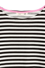 Jersey top - Black/White/Striped - Kids | H&M CN 3