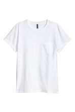T-shirt with a chest pocket - White - Men | H&M CN 2