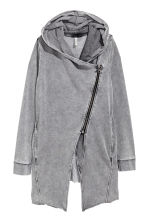 Hooded sweatshirt cardigan - Grey - Ladies | H&M 2