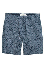 Chino shorts - Dark blue/Patterned - Men | H&M CN 1