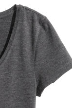 Jersey top - Dark grey marl - Ladies | H&M 3