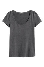 Jersey top - Dark grey marl - Ladies | H&M 2