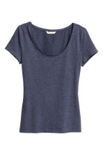Jersey top - Dark blue marl - Ladies | H&M CA 2