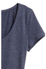 Jersey top - Dark blue marl - Ladies | H&M CA 3
