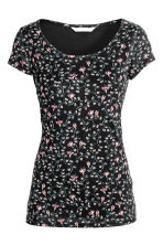MAMA Nursing top - Black/Floral - Ladies | H&M CN 2